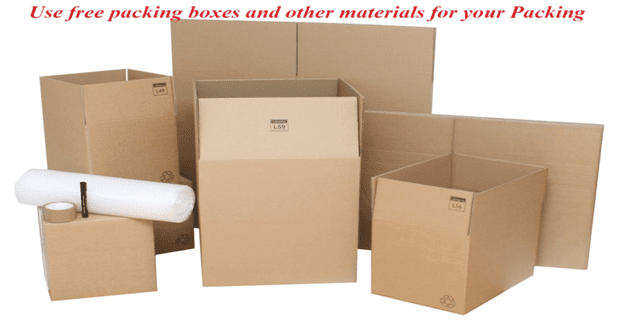 Use free packing boxes and other materials for your Packing - Moving Feedback