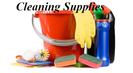Cleaning Supplies - Moving Feedback