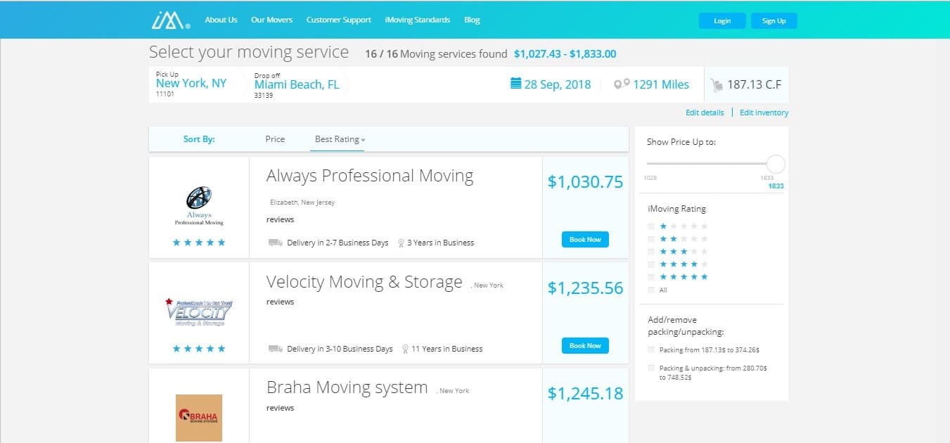 iMoving - Choose Moving Companies
